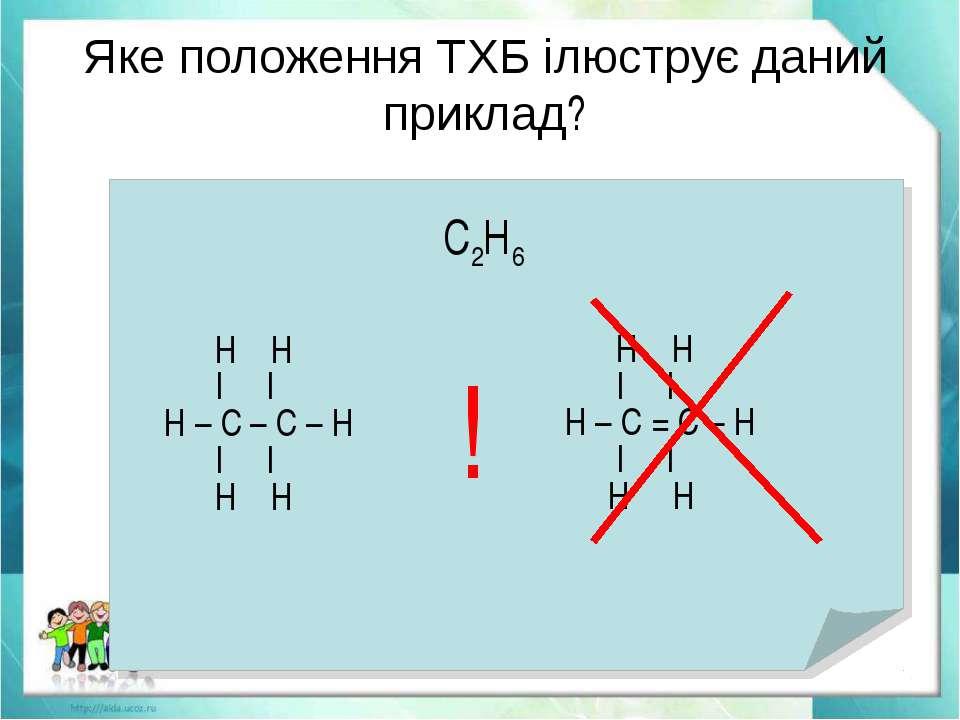 Яке положення ТХБ ілюструє даний приклад?