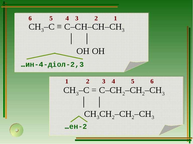 1 2 3 4 5 6 …ен-2 6 5 4 3 2 1 …ин-4-діол-2,3
