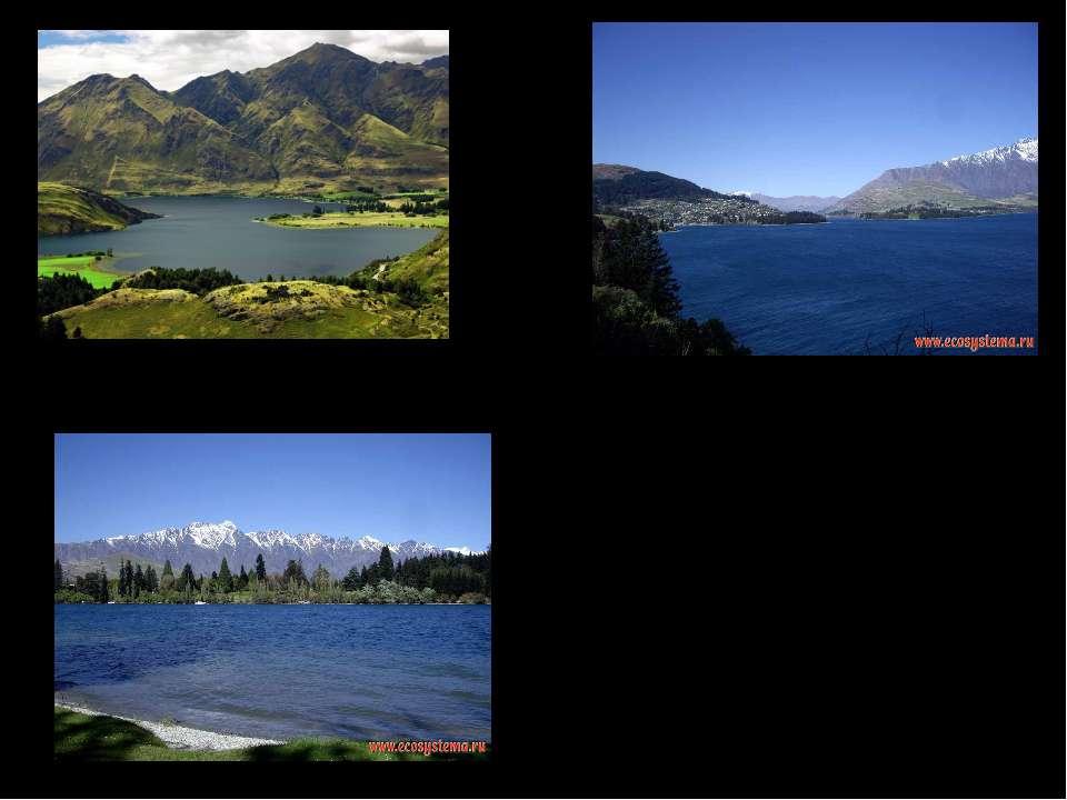 Озеро Вакатіпу і Гори Гарві, Квінстаун, регіон Отаґо, Південні Альпи Одне з н...