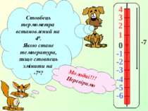 4 3 2 1 -1 0 -2 -3 -4 -5 -6 Стовбець термометра встановлений на 40. Якою стан...