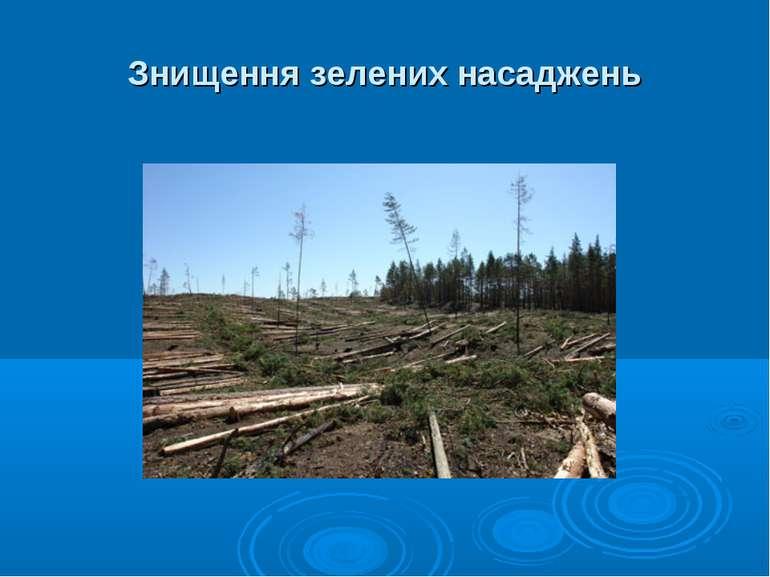 Знищення зелених насаджень
