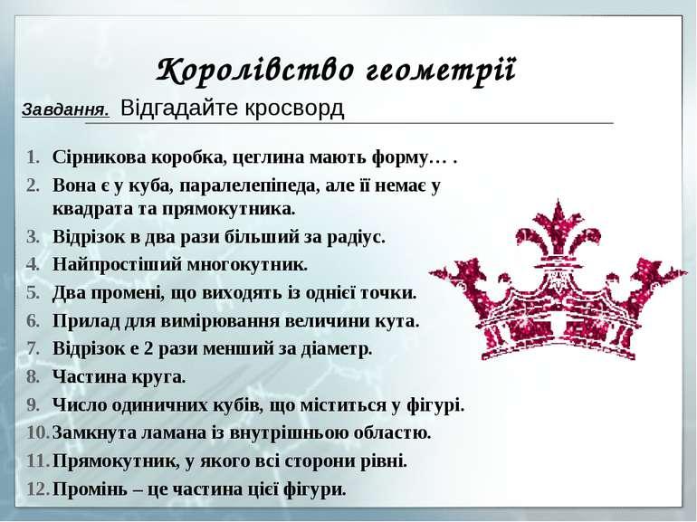 Королівство геометрії Сірникова коробка, цеглина мають форму… . Вона є у куба...