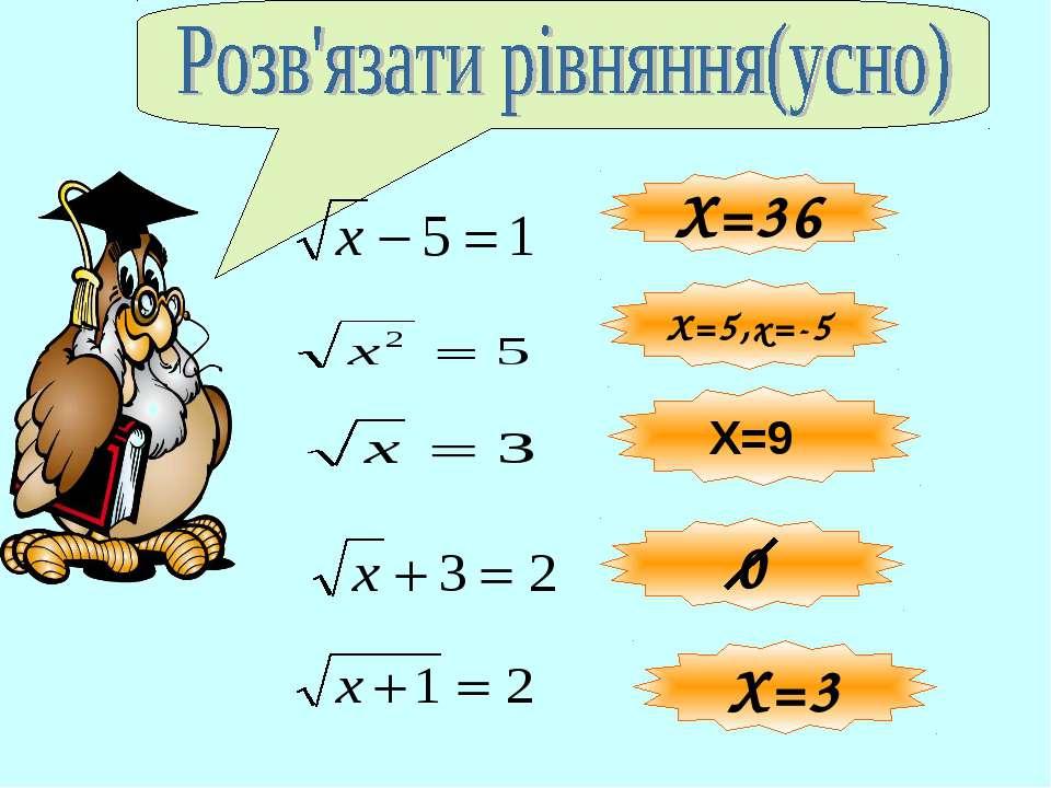 Х=3 Х=36 Х=5,х=-5