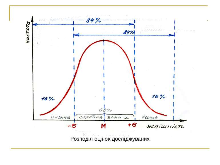 Розподіл оцінок досліджуваних