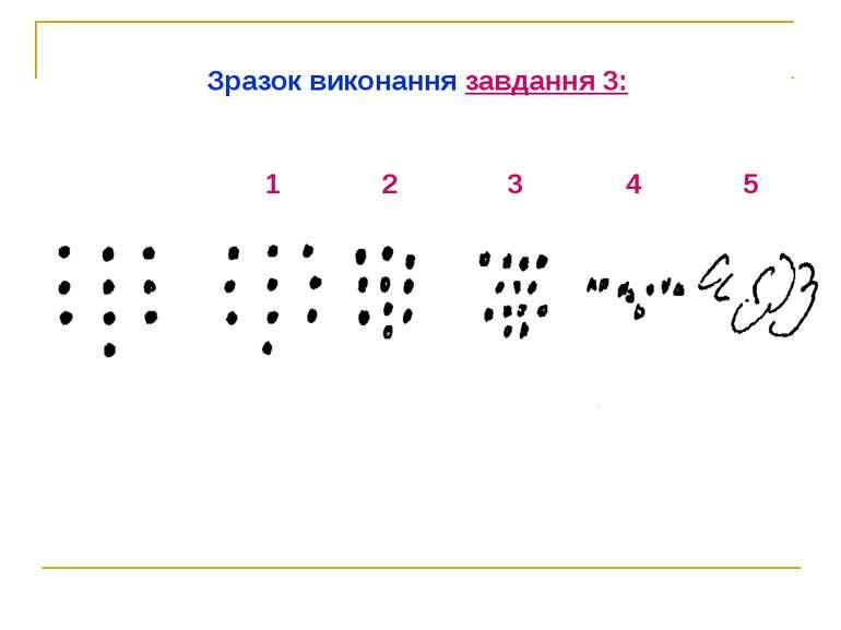Зразок виконання завдання 3: 1 2 3 4 5