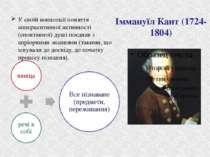 Іммануїл Кант (1724-1804) У своїй концепції поняття апперцептивної активності...