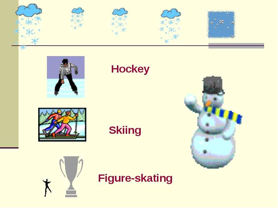 Hockey Skiing Figure-skating