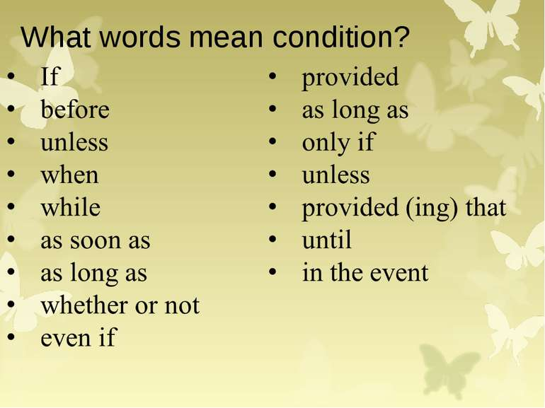 What words mean condition?