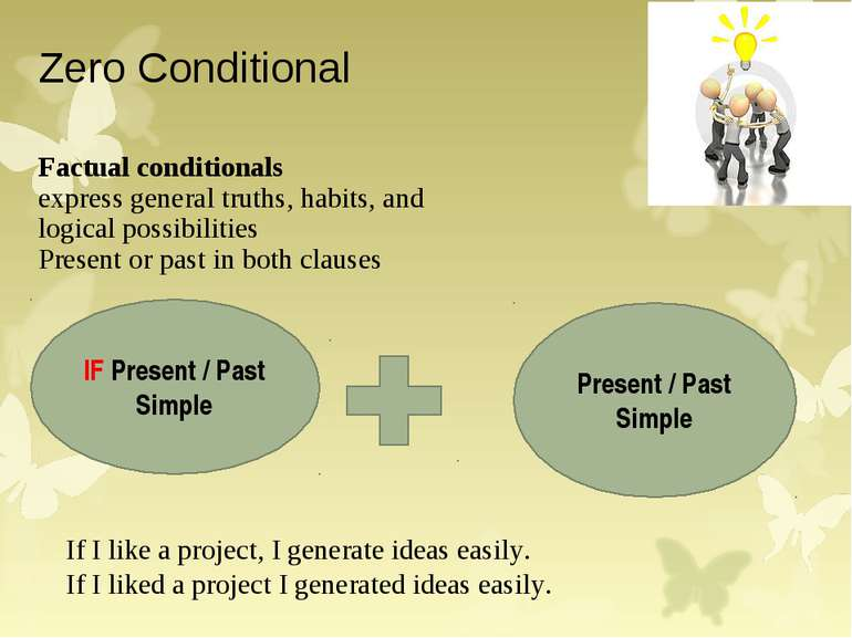 Zero Conditional Factual conditionals express general truths, habits, and log...