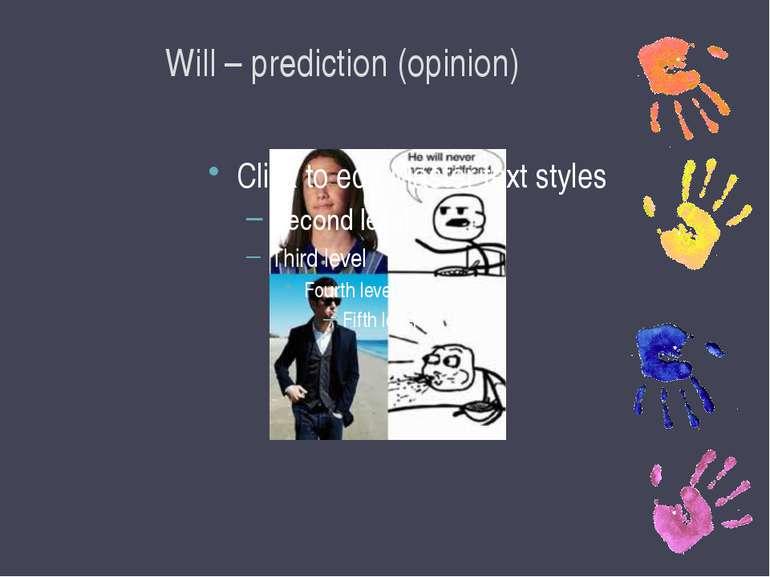 Will – prediction (opinion)