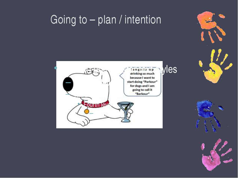 Going to – plan / intention
