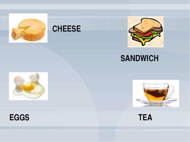 TEA EGGS SANDWICH CHEESE