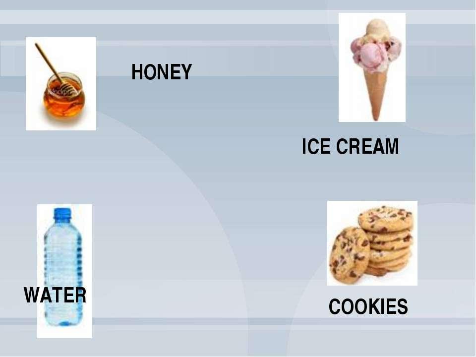 WATER ICE CREAM HONEY COOKIES