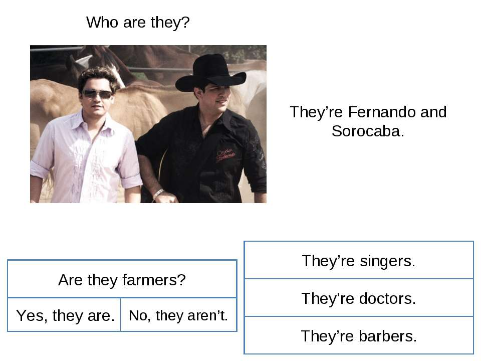 Who are they? They're Fernando and Sorocaba. Are they farmers? Yes, they are....