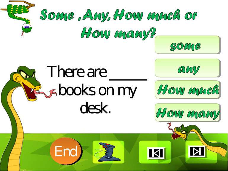 There are _____ books on my desk. 10 9 8 7 6 5 4 3 2 1 End Clique para editar...