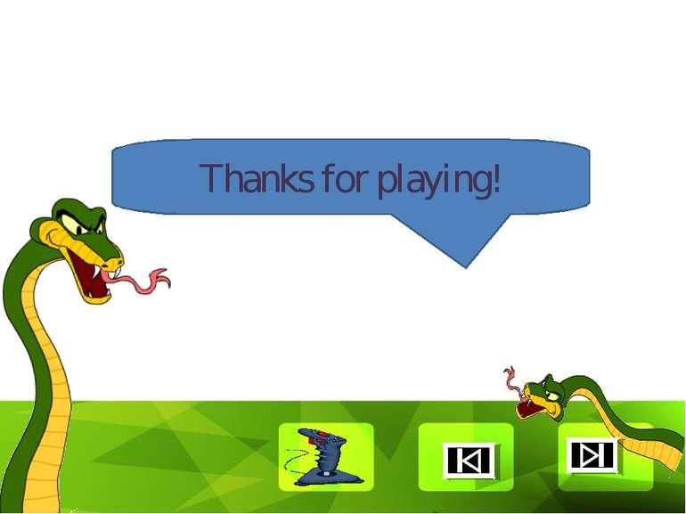 Thanks for playing! Clique para editar o estilo Faça clique para editar o est...