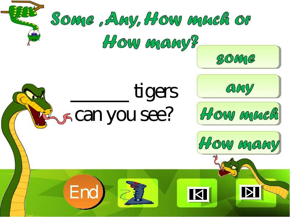 ______ tigers can you see? 10 9 8 7 6 5 4 3 2 1 End Clique para editar o esti...