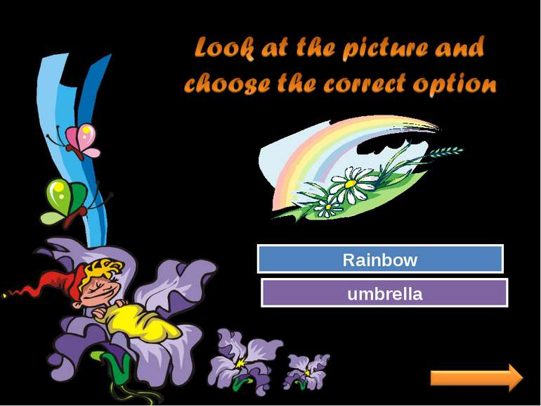 Try Again Great Job! umbrella Rainbow