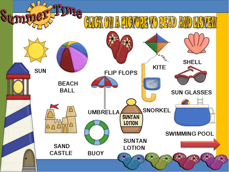 UMBRELLA SUN KITE BEACH BALL FLIP FLOPS SNORKEL SUN GLASSES SAND CASTLE SUNTA...