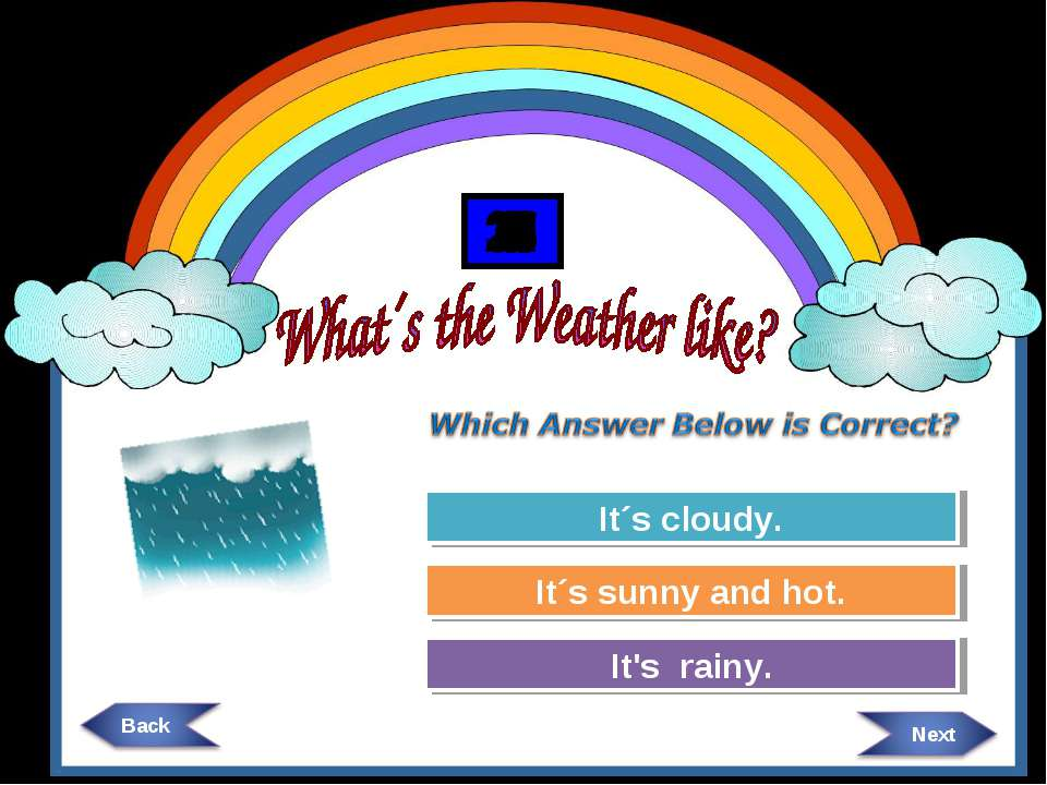 Try Again Try Again Great Job! It´s cloudy. It´s sunny and hot. It's rainy. 3...