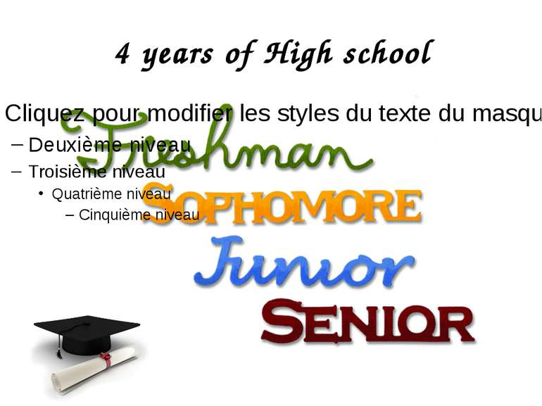 4 years of High school