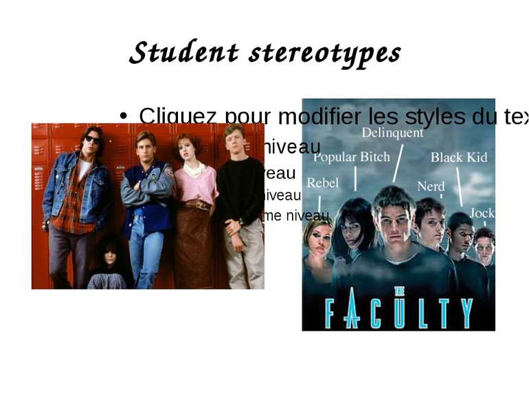 Student stereotypes