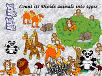 Count it! Divide animals into types