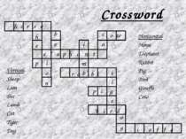 Crossword e l e p h a n t h o r s e h e p i o n b e l m b r a b i b i r d p i...