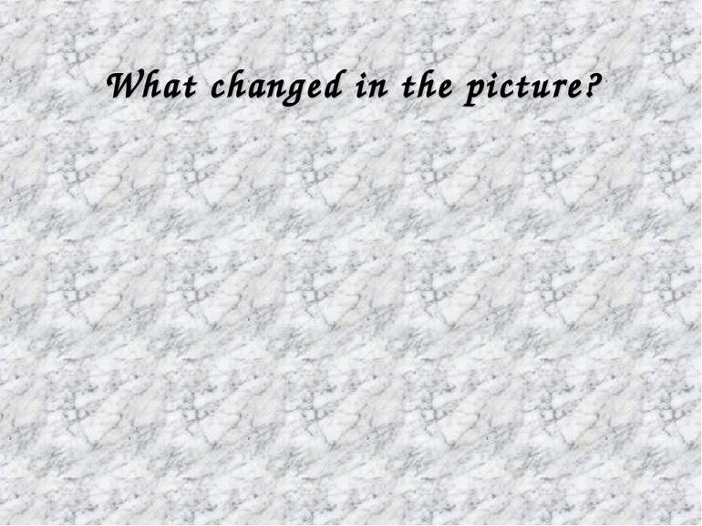 What changed in the picture?