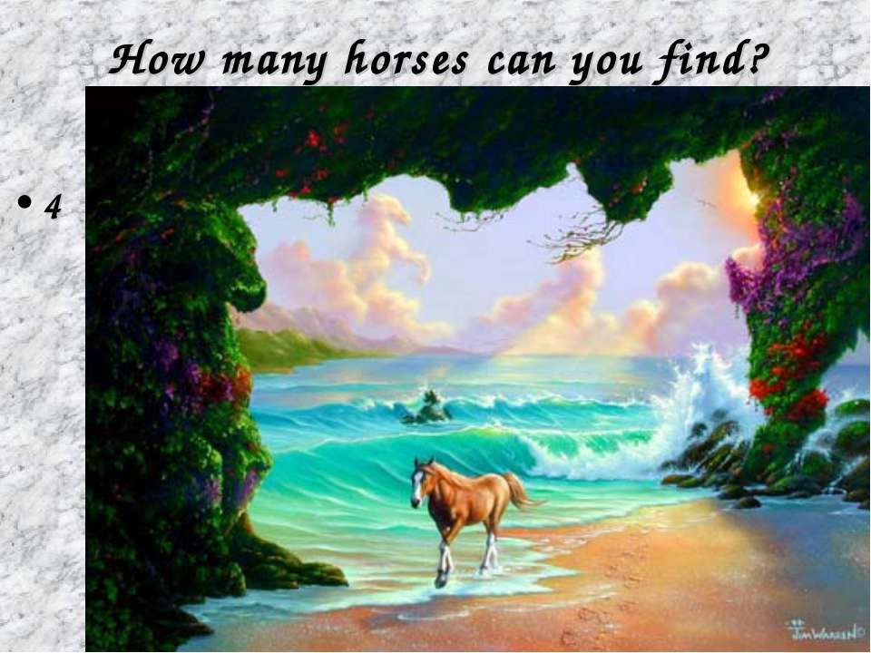 How many horses can you find? 4