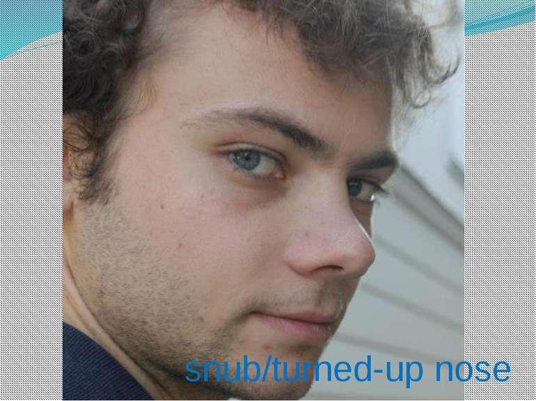snub/turned-up nose