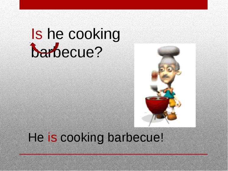 Is he cooking barbecue? He is cooking barbecue!