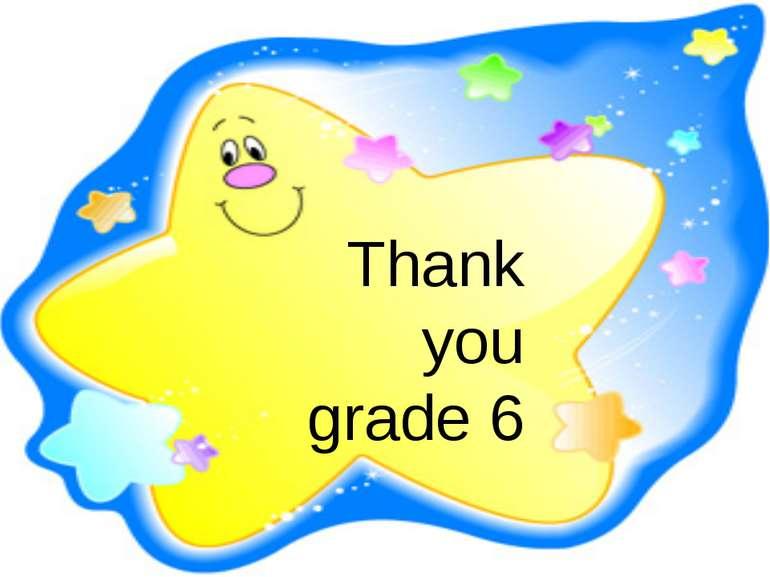 Thank you grade 6
