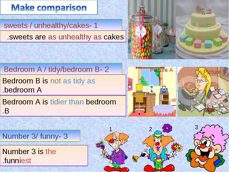 1- sweets / unhealthy/cakes. sweets are as unhealthy as cakes. Picture A Pict...