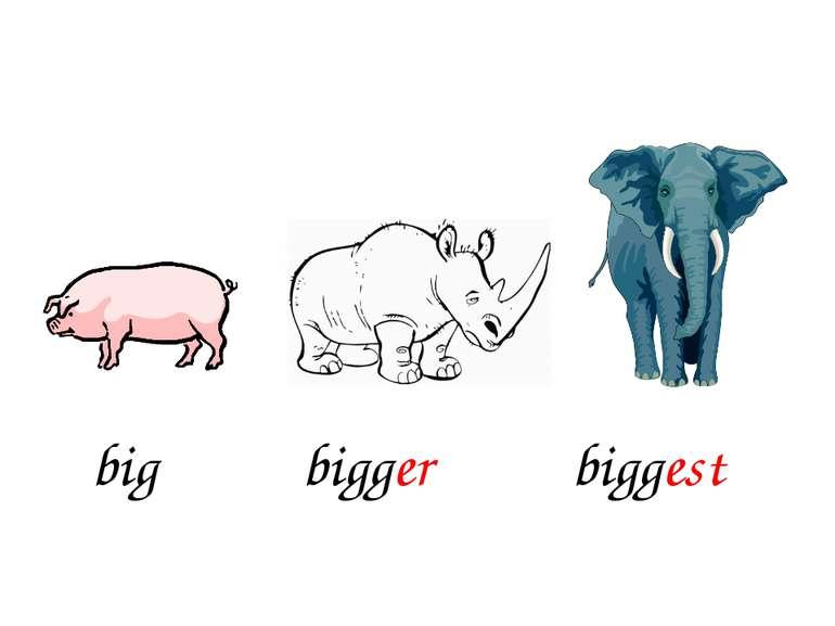 bigger biggest big