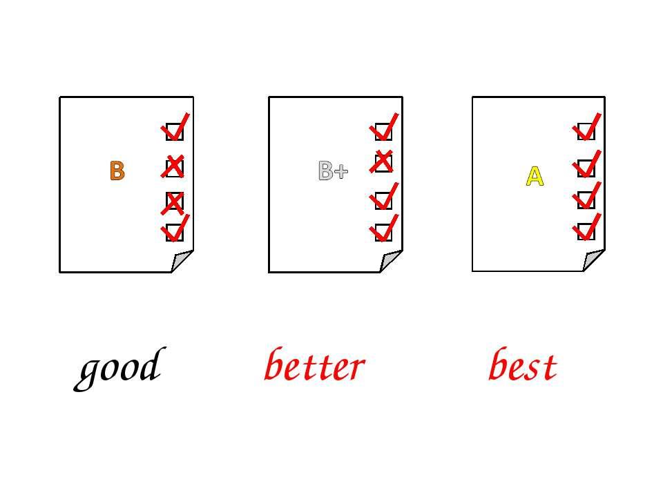 better best good
