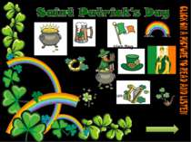 horseshoe Pot of gold rainbow beer Irish flag Saint Patrick hat shamrock harp...