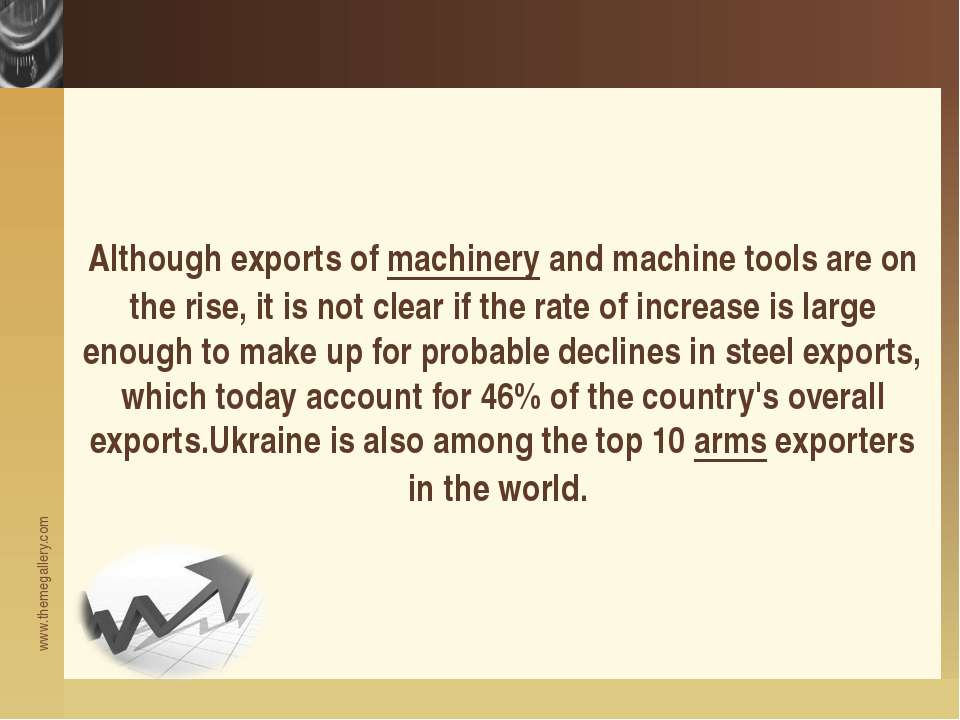 Although exports of machinery and machine tools are on the rise, it is not cl...