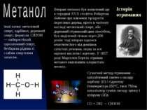 інші назви: метиловий спирт, карбінол, деревний спирт; формула: CH3OH — найпр...
