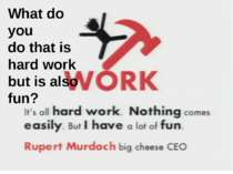 What do you do that is hard work but is also fun? What do you do that is hard...