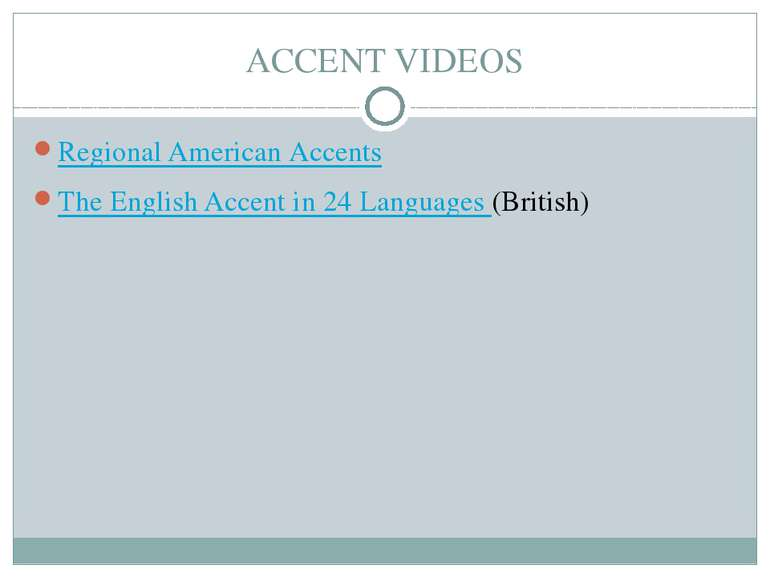 ACCENT VIDEOS Regional American Accents The English Accent in 24 Languages (B...