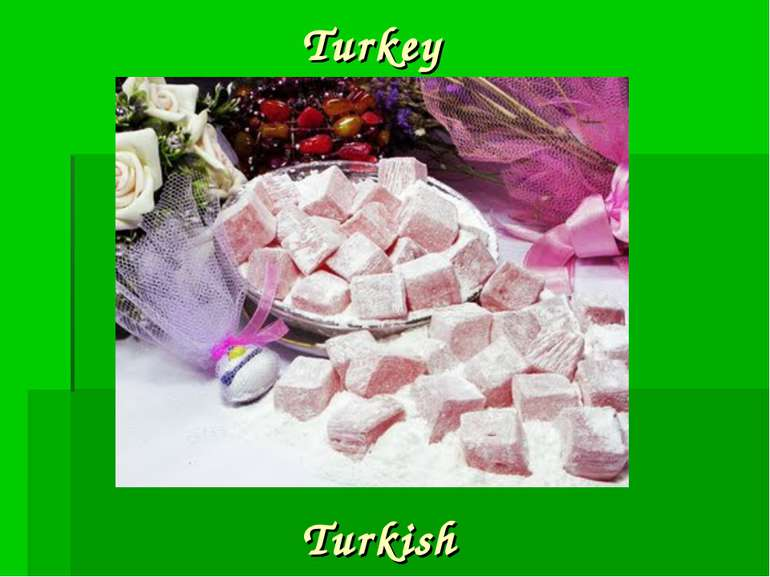 Turkey Turkish
