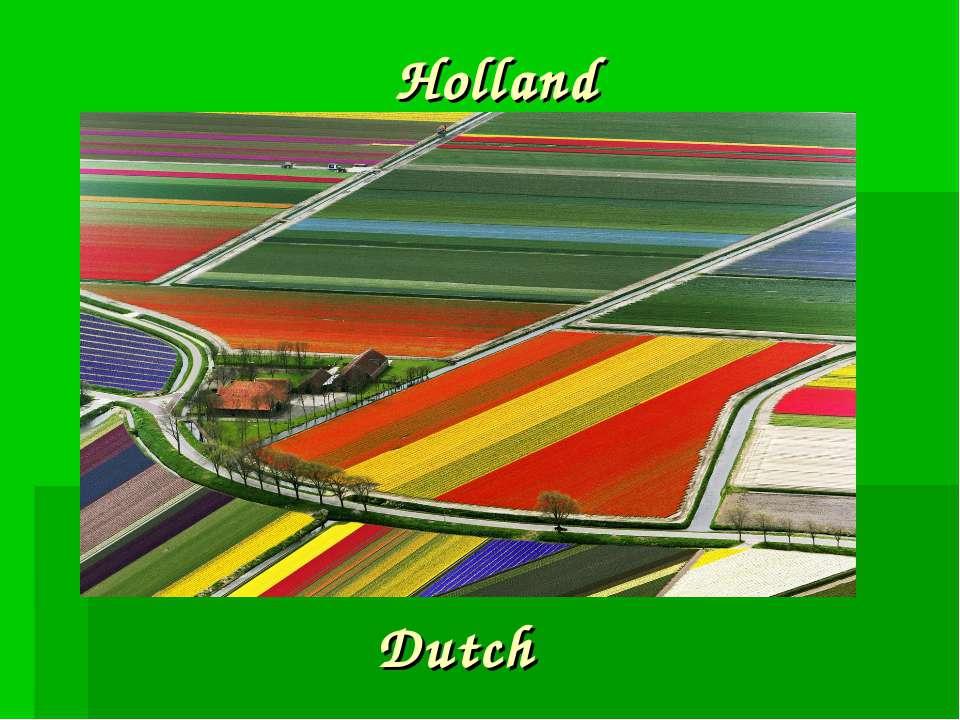 Holland Dutch