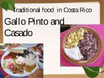 Traditional food in Costa Rico Gallo Pinto and Casado