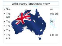 What country is this school from? Students attend school for 200 days a year ...