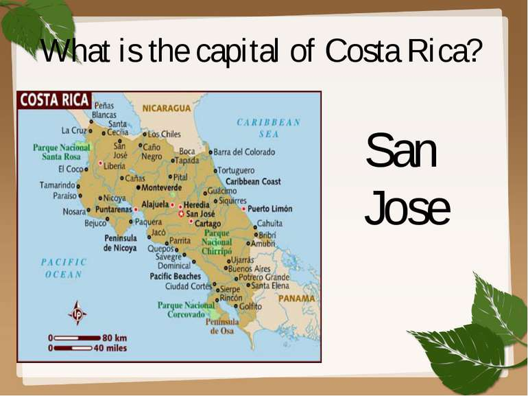 What is the capital of Costa Rica? San Jose