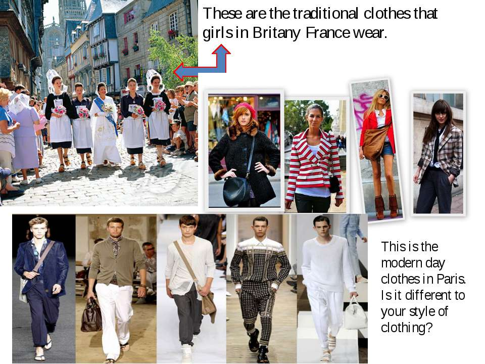 These are the traditional clothes that girls in Britany France wear. This is ...
