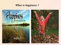 What is happiness ?