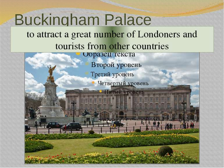 Buckingham Palace one of the most remarkable sights of the British capital th...