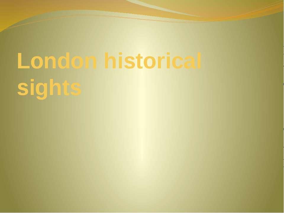 London historical sights